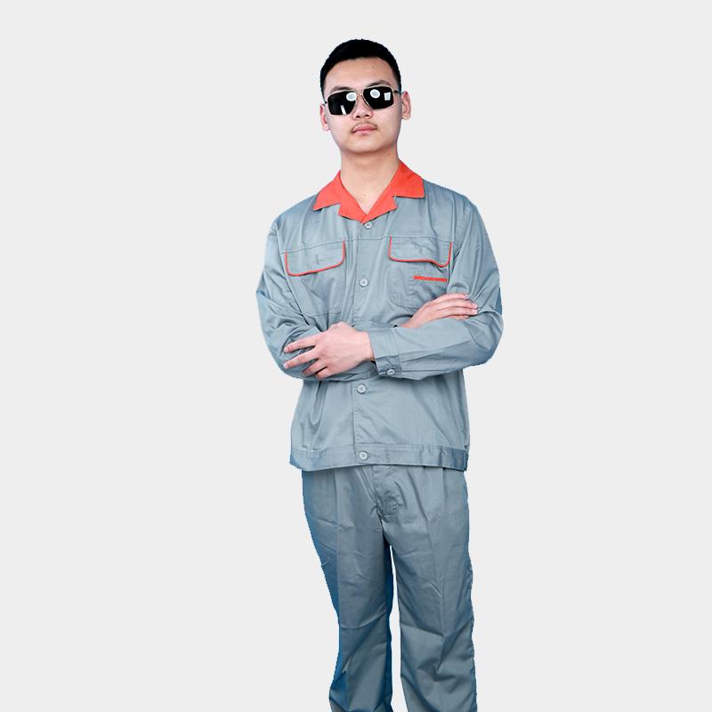 夏季工作服套装男薄款耐磨短袖电焊电工工地劳保服纯棉定制劳动服