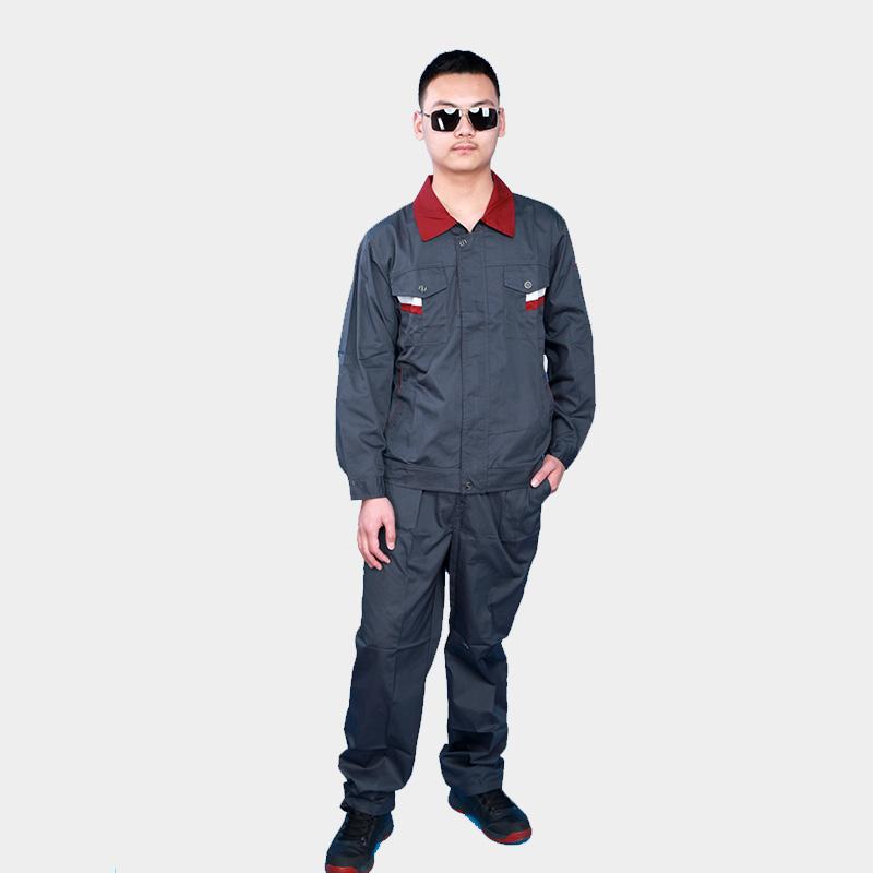 春秋长袖工作服套装男士汽修工厂车间装修劳保服耐磨建筑工装上衣