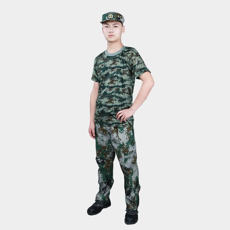 夏季迷彩服套装工作服男女可定制