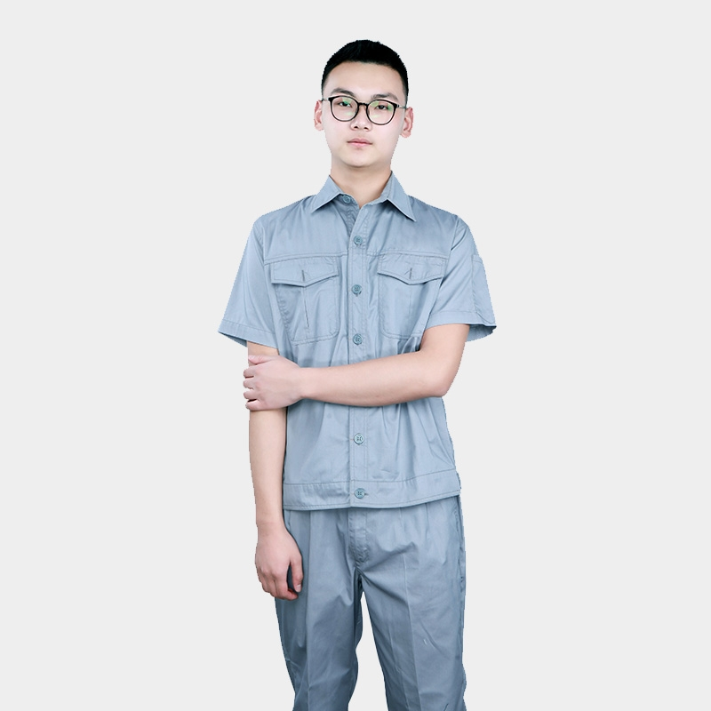 夏季短袖薄款劳保服防静电服套装可定制