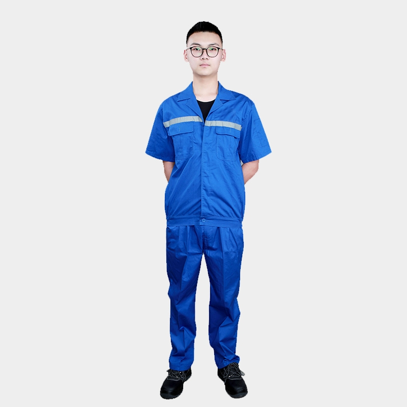 短袖工作服套装男夏季工程劳保服工厂车间维修汽修服上衣厂服工装