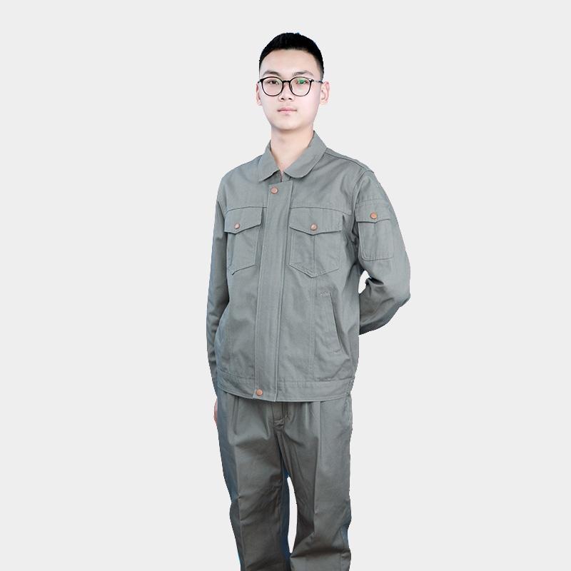长袖工作服套装男女士工地耐磨春夏季透气工厂汽修上衣劳保服定制