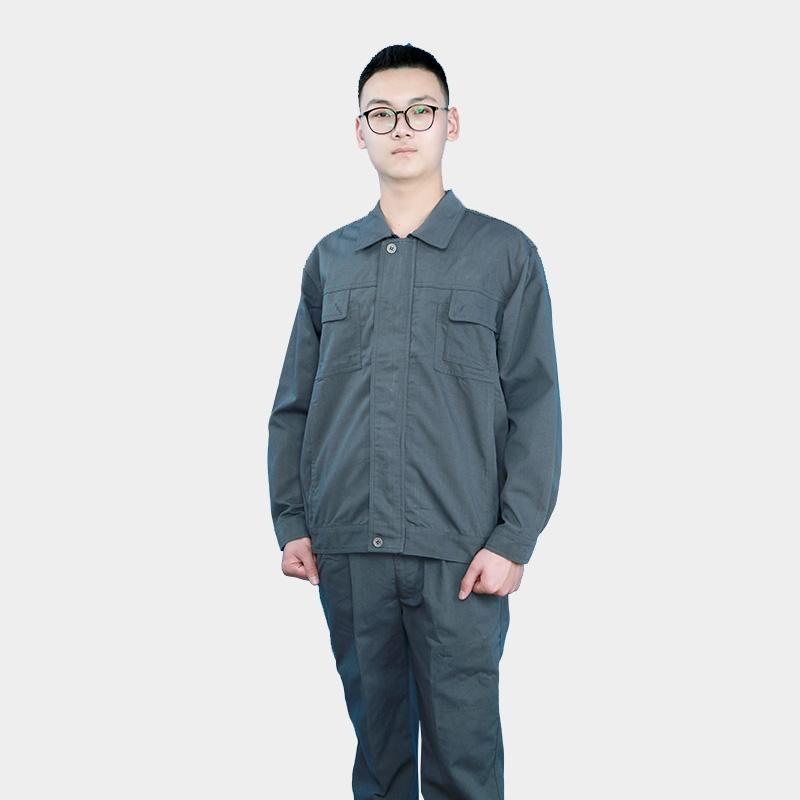 劳动帆布老保电焊工装工作服套装衣服男士防烫耐磨长袖劳保服定制