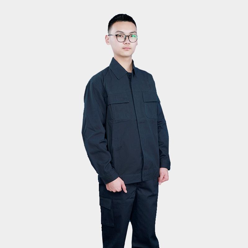 黑色长袖劳保服外套