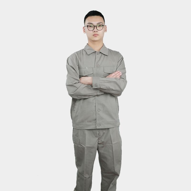 工作服男士套装长袖春秋建筑工地反光条汽修工厂车间劳保工服定制