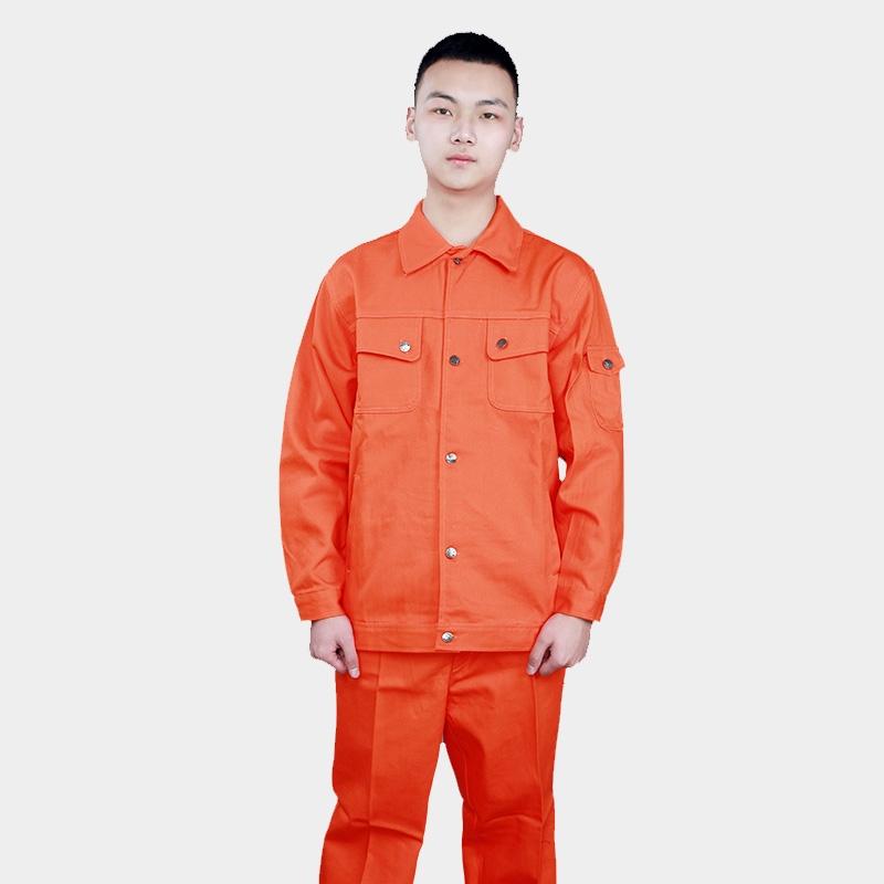 春秋长袖工作服套装男女汽修保洁工厂车间物业耐磨劳保服上衣定制