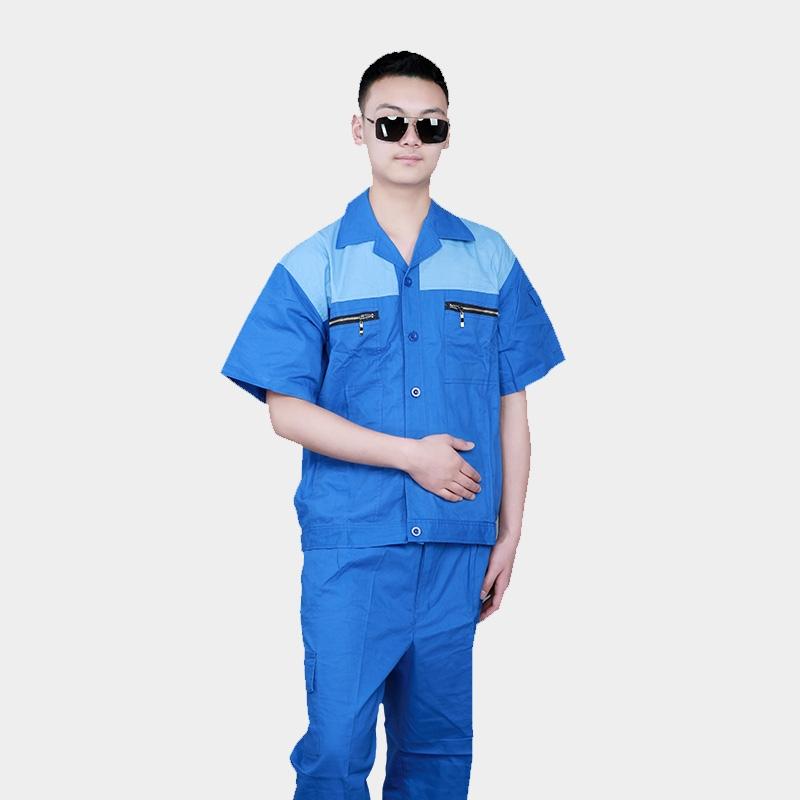 工作服套装男夏季长短袖薄款环卫工中铁工作服定制纯棉汽修劳保服