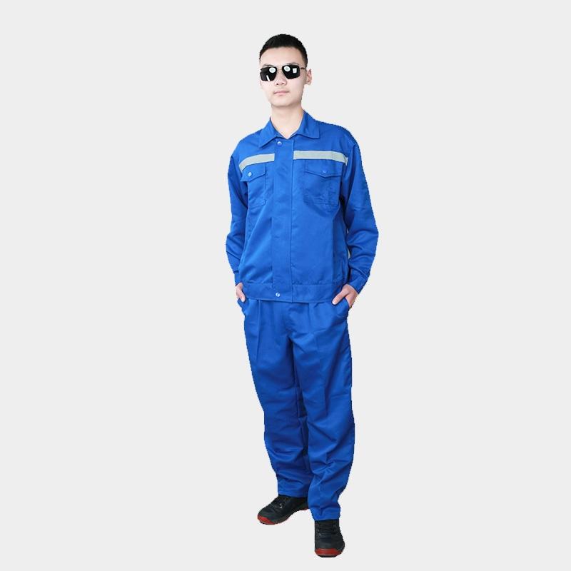夏季纯棉长短袖工作服套装男士薄款耐磨定制上衣电焊工劳动劳保服
