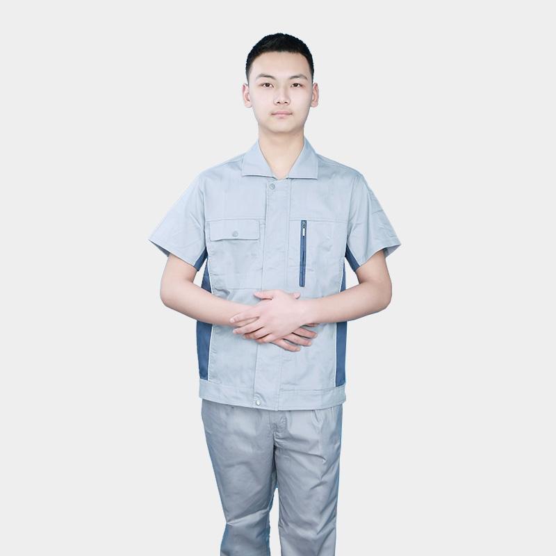 夏季工作服套装男纯棉薄款长袖电焊工劳保服工厂车间工装全棉耐磨