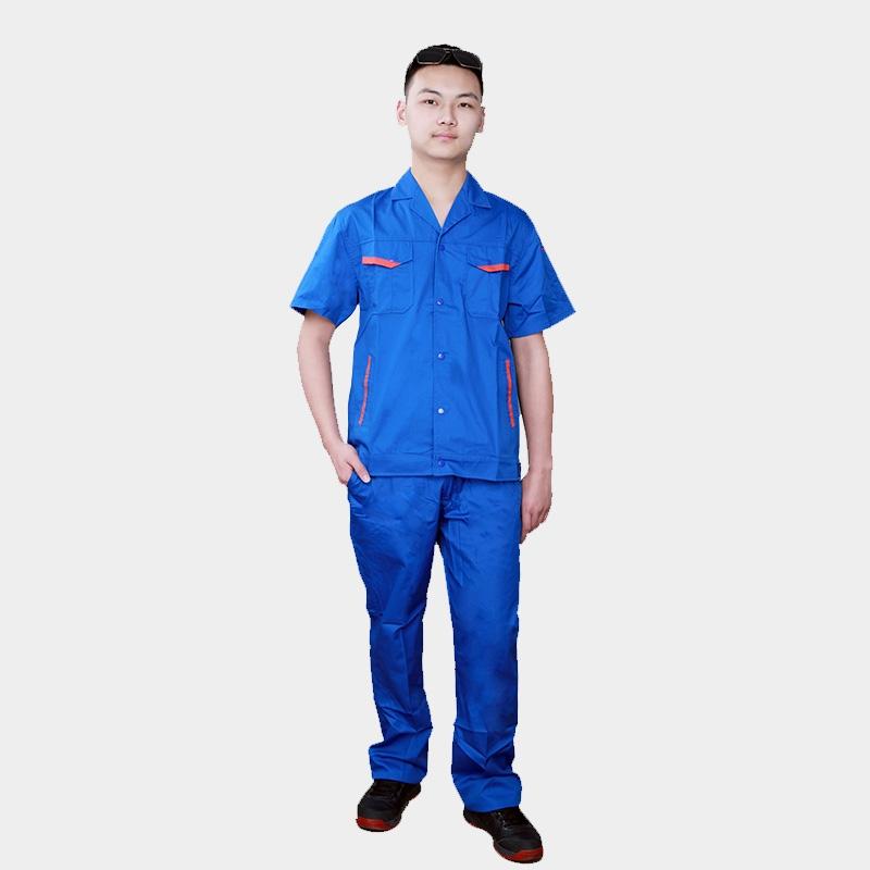 夏季工作服短袖长袖男女半袖套装汽修工装劳保服厂服上衣定制LOGO