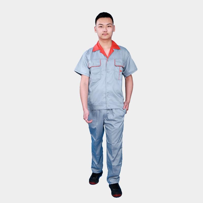 夏季工作服套装男纯棉反光条工服建筑工地户外铁路劳保服定制