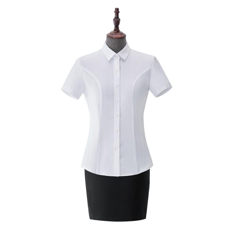 女士成衣免烫短袖-NC553A